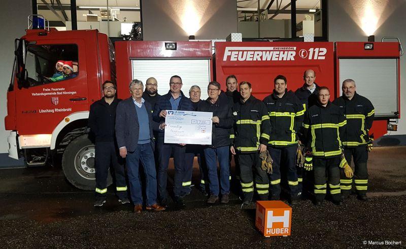 Spendenübergabe an die Freiwillige Feuerwehr Rheinbrohl